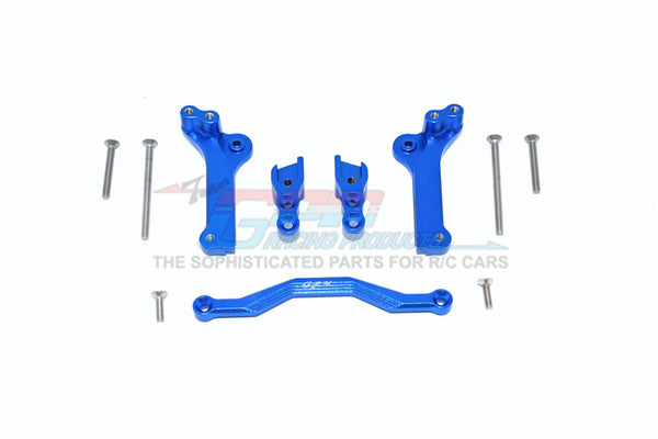 Traxxas 1/10 Maxx 4WD Monster Truck Aluminum Rear Shock Mount - 5Pc Set Blue