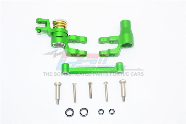 Traxxas 1/10 Maxx 4WD Monster Truck Aluminum Steering Assembly - 1 Set Green