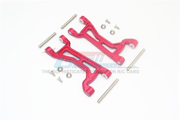 Traxxas 1/10 Maxx 4WD Monster Truck Aluminium Front Or Rear Upper Arms -1Pr Set	 Red