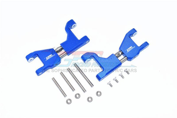 Traxxas 1/10 Maxx 4WD Monster Truck Stainless Steel+ Aluminum Supporting Mount With Front / Rear Upper Arms - 14Pc Set Blue