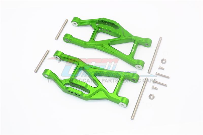 Traxxas 1/10 Maxx 4WD Monster Truck Aluminium Front Or Rear Lower Arms - 1Pr Set Green