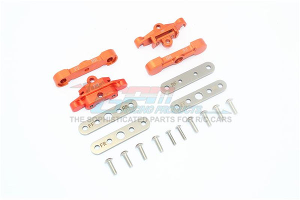 Traxxas 1/10 Maxx 4WD Monster Truck Aluminum Front + Rear Lower Arm Tie Bar Mount - 18Pc Set Orange