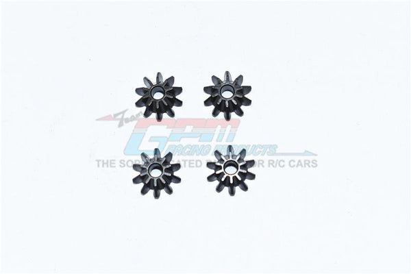Traxxas 1/10 Maxx 4WD Monster Truck Harden Steel #45 Front / Center / Rear Differential Pinion Gear - 4Pc Set Black