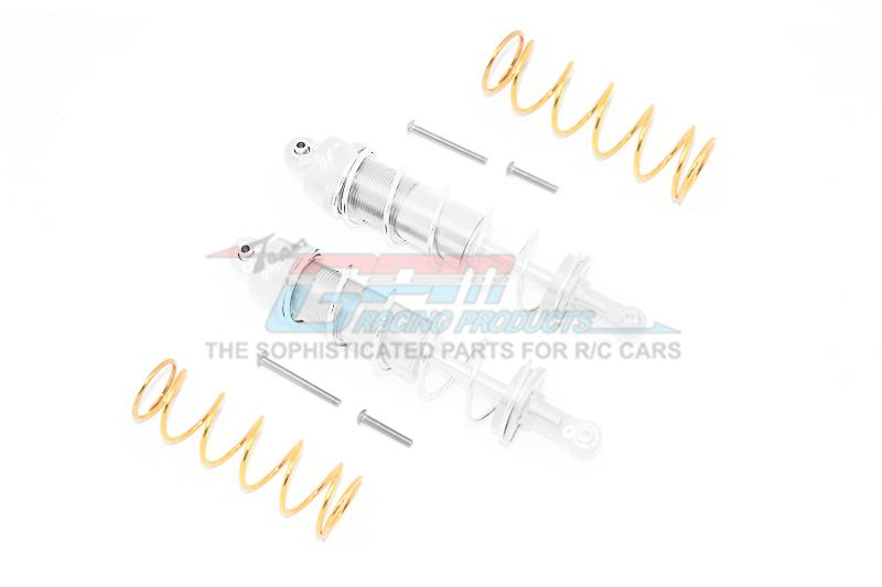 Traxxas-Maxx-ALUMINUM FRONT//REAR THICKENED SPRING DAMPERS 125MM 8PC Set-Blue