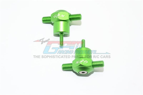 Traxxas Unlimited Desert Racer 4X4 (#85076-4) Aluminum Spare Tire Locking - 2Pc Set Green