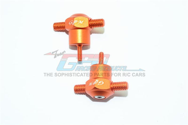 Traxxas Unlimited Desert Racer 4X4 (#85076-4) Aluminum Spare Tire Locking - 2Pc Set Orange