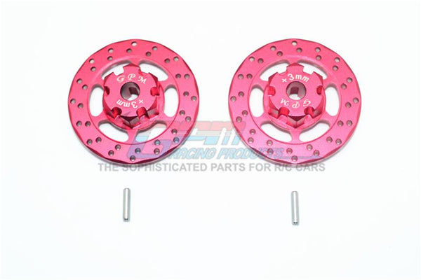 Traxxas Unlimited Desert Racer 4X4 (#85076-4) Aluminum +3mm Hex With Brake Disk - 1Pr Set Red