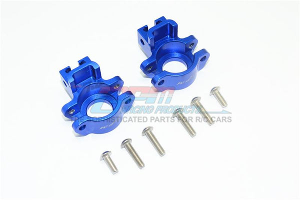 Traxxas Unlimited Desert Racer 4X4 (#85076-4) Aluminum Rear Axle Hub - 1Pr Set Blue