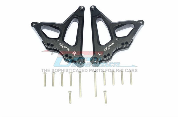 Traxxas Unlimited Desert Racer 4X4 (#85076-4) Aluminum Rear Damper Mount - 1Pr Set Black