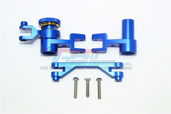 Traxxas Unlimited Desert Racer 4X4 (#85076-4) Aluminum Steering Assembly - 1 Set Blue