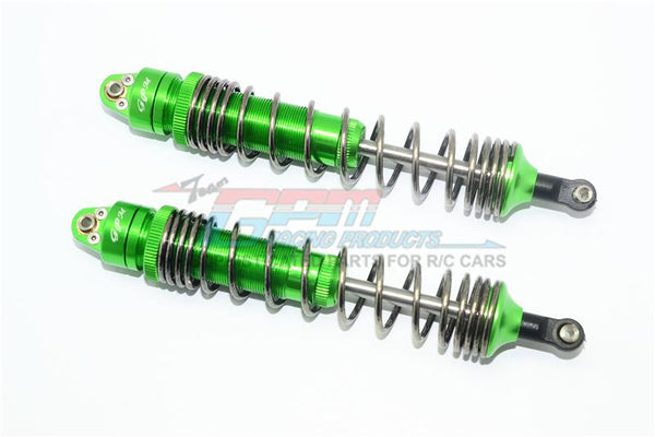 Traxxas Unlimited Desert Racer 4X4 (#85076-4) Aluminum Rear Spring Dampers (139mm) - 2Pc Set Green