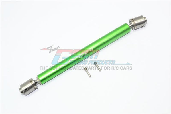 Traxxas Unlimited Desert Racer 4X4 (#85076-4) Stainless Steel #304 + Aluminum Rear Drive Shaft - 1Pc Set Green