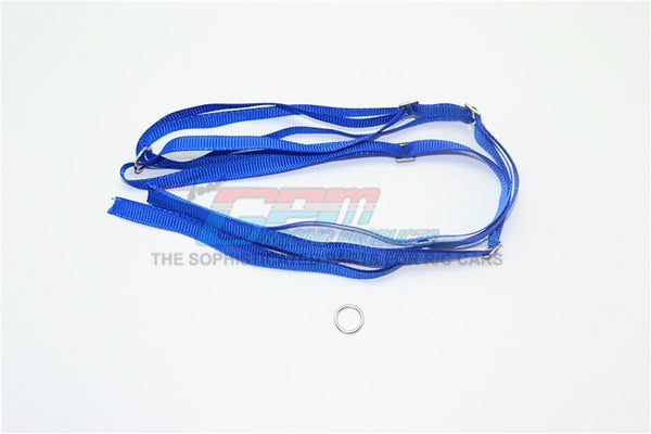 R/C Scale Accessories : Spare Tire Tie Down For Traxxas 1/7 Unlimited Desert Racer -2Pc Set Blue