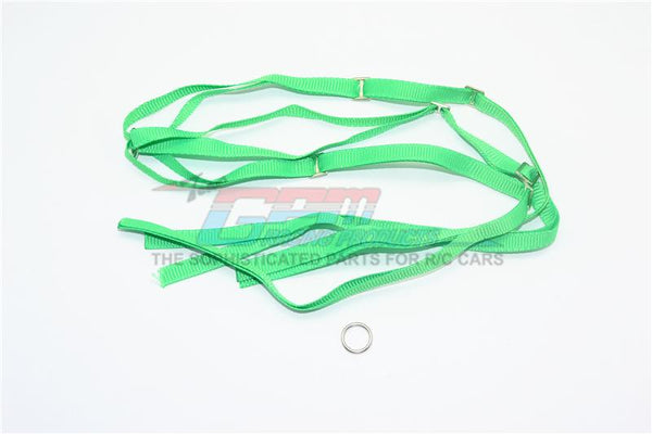 R/C Scale Accessories : Spare Tire Tie Down For Traxxas 1/7 Unlimited Desert Racer -2Pc Set Green
