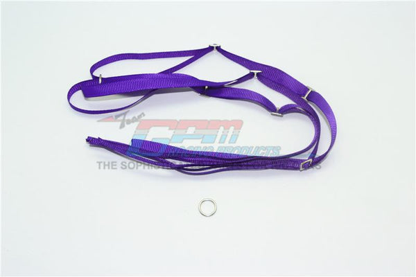 R/C Scale Accessories : Spare Tire Tie Down For Traxxas 1/7 Unlimited Desert Racer -2Pc Set Purple
