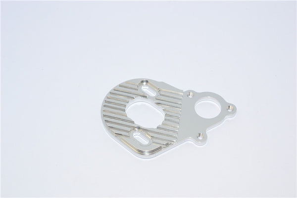 Axial SMT10 Grave Digger (AX90055) Aluminum Motor Heat Sink Plate - 1Pc Silver