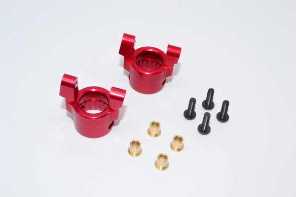 Axial Wraith & RR10 Bomber Aluminum Front C-Hub - 1Pr Red