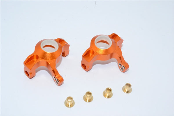 Axial Wraith & RR10 Bomber Aluminum Steering Front Knuckles - 1 Pr Set Orange