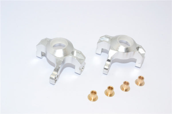 Axial Wraith & RR10 Bomber Aluminum Steering Front Knuckles - 1Pr Set Silver
