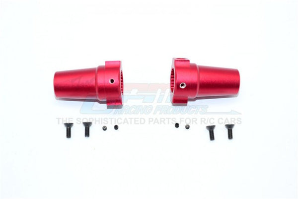 Axial Wraith / Yeti / RR10 Bomber Aluminum Straight Axle Adapter - 1Pr Red