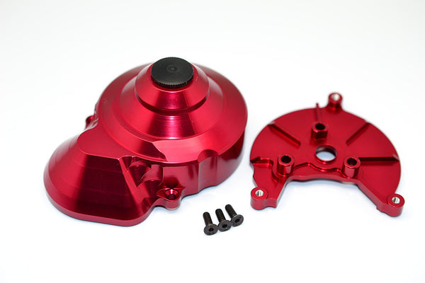 Axial Wraith & Wraith Spawn Aluminum Transmission Spur Gear Case - 2 Pcs Set Red