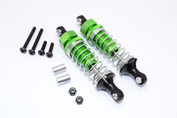 HPI WR8 Flux Aluminum Front Adjustable Damper (70mm) With Plastic Ball Top - 1Pr Set Green