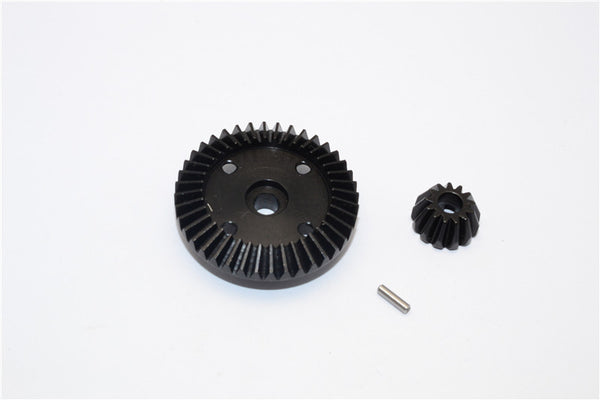 HPI WR8 Flux / Bullet MT 3.0 / Bullet ST Flux Steel#45 Diff Gears - 2Pcs Set Black