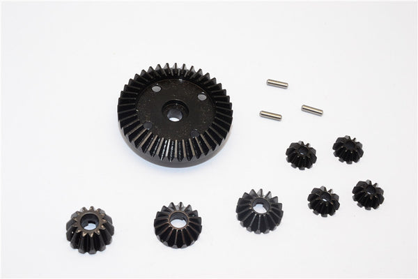 HPI WR8 Flux / Bullet MT 3.0 / Bullet ST Flux Steel#45 Diff Gears & Bevel Gears - 8Pcs Set Black
