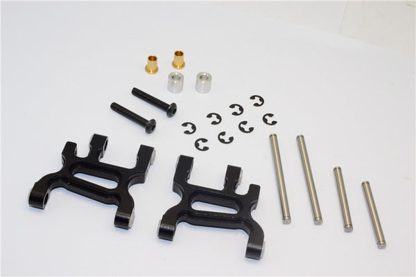 Tamiya WR02C Aluminum Front Lower Arm - 1Pr Set Black