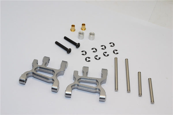 Tamiya WR02C Aluminum Front Lower Arm - 1Pr Set Gray Silver
