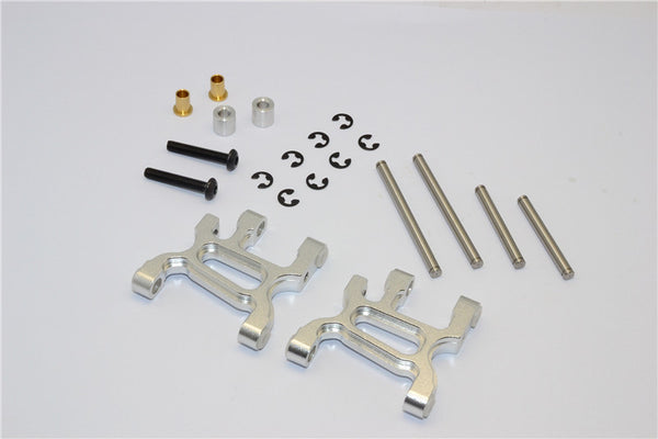 Tamiya WR02C Aluminum Front Lower Arm - 1Pr Set Silver