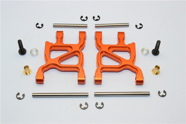Tamiya WR02C Aluminum Rear Lower Arm - 1Pr Set Orange