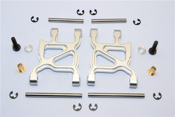 Tamiya WR02C Aluminum Rear Lower Arm - 1Pr Set Silver