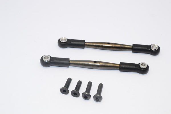 Tamiya Wild Willy 2 Spring Steel Anti-Thread Steering Tie Rod - 1Pr Set Black