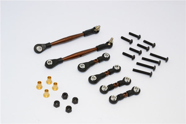 Tamiya Wild Willy 2 Spring Steel Anti-Thread Turnbuckle - 6Pcs Set Black