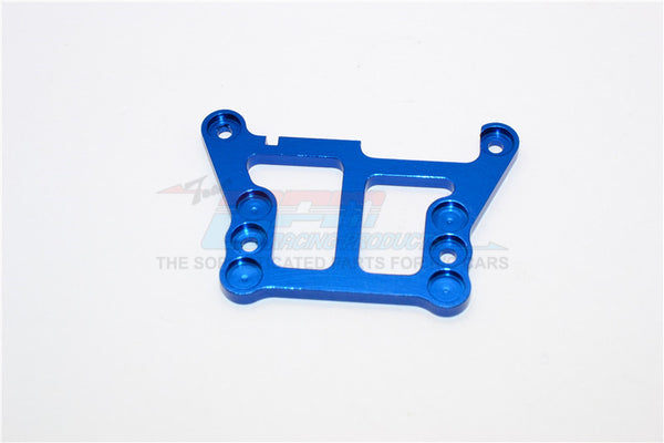 XMods Generation 1 Aluminum Front Upper Plate Connects To Front Gear Box - 1Pc Blue