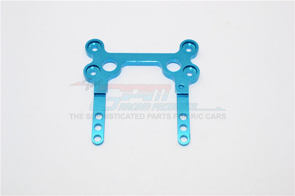 XMods Generation 1 Aluminum Rear Upper Plate Connects To Rear Gear Box - 1Pc Blue