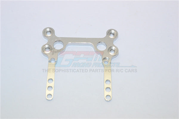 XMods Generation 1 Aluminum Rear Upper Plate Connects To Rear Gear Box - 1Pc Silver