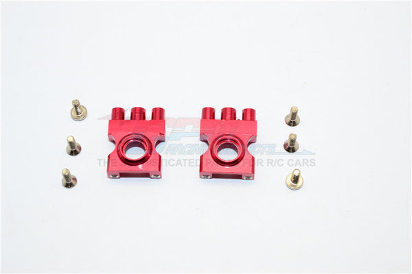 XMods Generation 1 Aluminum Front Gear Box With Screws - 1Pr Set Red