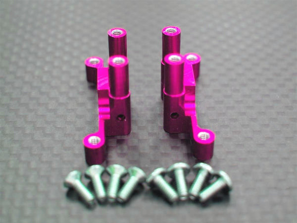 XMods Generation 1 Aluminum Rear Gear Box With Screws - 1Pr Set Pink