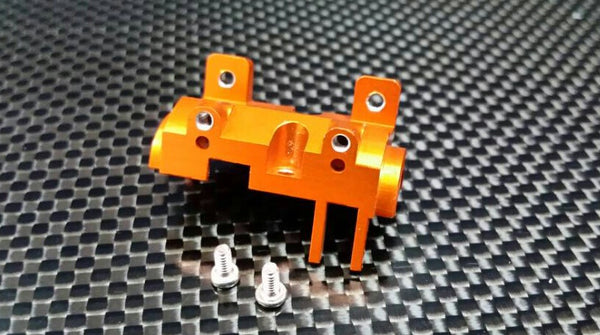 XMods Evolution Touring Aluminum Front Gear Box Front Cover With Screws - 1Pc Set Orange