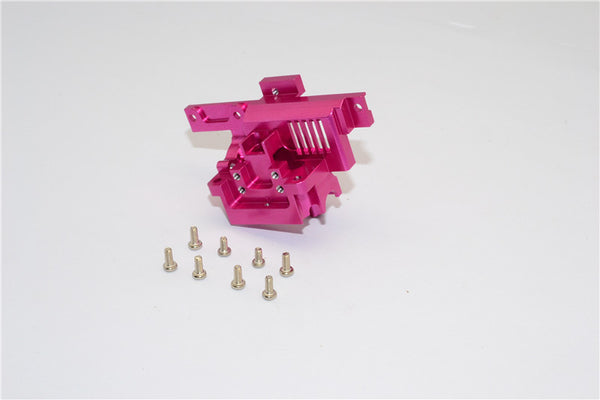 XMods Evolution Touring Aluminum Rear Gear Box Front Cover With Screws - 1Pc Set Pink