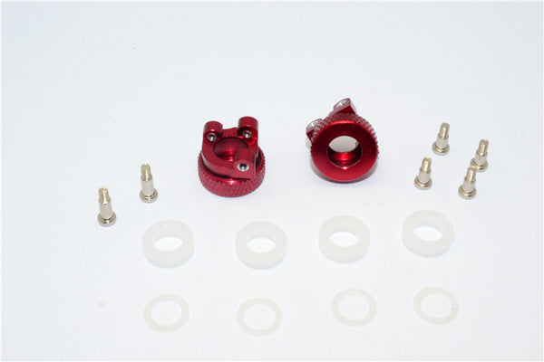 XMods Evolution Touring Aluminum Front Adjustable Knuckle Arm With Delrin Collars & Screws - 1Pr Set Red