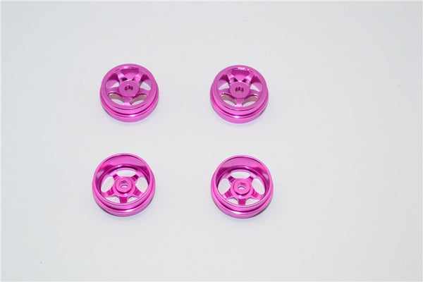 XMods Evolution Touring Aluminum Front & Rear Bold Rims (Star) - 4Pcs Set (Ridge) Pink