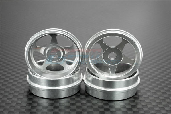 XMods Evolution Touring Aluminum Front & Rear Sinkage Rims (Star) - 4Pcs (Ridge) Silver