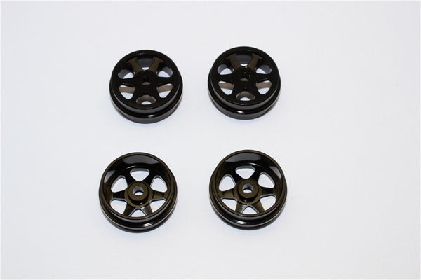 XMods Evolution Touring Aluminum Front & Rear Sinkage Rims (6 Poles) - 4Pcs (Ridge) Black