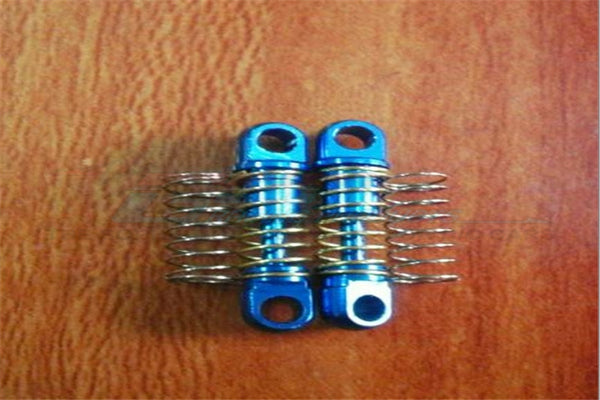 XMods Evolution Touring Aluminum Rear Shock (16mm) With Springs - 1Pr Set Blue