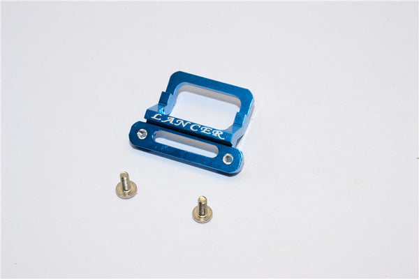XMods Evolution Touring Aluminum Front Body Lock Plate With Screws (For Lancer) - 1Pc Set Blue