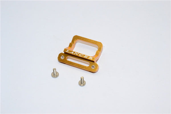 XMods Evolution Touring Aluminum Front Body Lock Plate With Screws (For Lancer) - 1Pc Set Gold