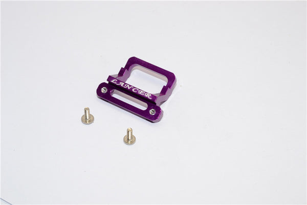 XMods Evolution Touring Aluminum Front Body Lock Plate With Screws (For Lancer) - 1Pc Set Purple
